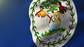 Belize flag waving in the wind. Looping sun rises stock video footage