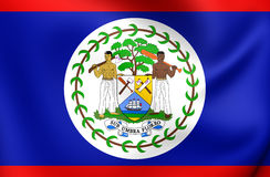 belize flagga stock illustrationer
