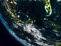 Belize la nuit de l'espace illustration de vecteur