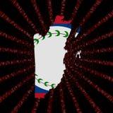 Belize mapy flaga na czerwonej hex kodu wybuchu ilustraci Zdjęcie Stock