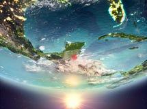Belize mit Sonne Stockfoto