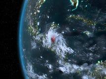 Belize nel rosso alla notte Immagine Stock