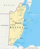Belize politisk översikt Arkivfoton