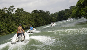 Belize River Boat Tour Adventure Stock Photo