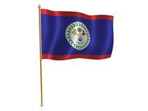 Belize silk flag. Silk flag of Belize Stock Photo