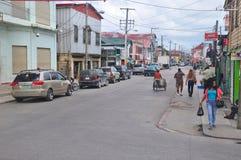 Belize-Stadtstraße in Belize lizenzfreie stockfotos