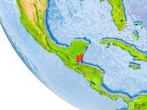 Belize sul globo Immagine Stock Libera da Diritti