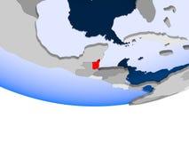 Belize sul globo Fotografia Stock