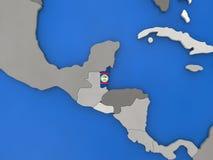 Belize sul globo Fotografia Stock Libera da Diritti