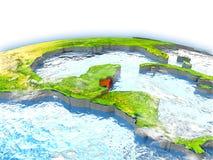Belize sul globo Immagine Stock