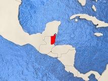 Belize sulla mappa Fotografia Stock Libera da Diritti