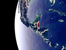 Belize sur le globe de l'espace illustration libre de droits
