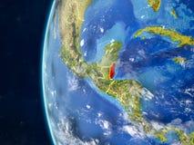 Belize sur le globe de l'espace illustration stock