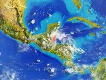 Belize sur terre de l'espace illustration stock