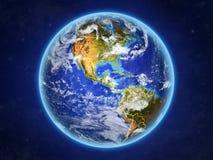 Belize sur terre de l'espace illustration libre de droits