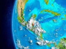 Belize ter wereld van ruimte Royalty-vrije Stock Foto