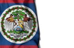 belize wrinkled flag, space for text Stock Images