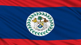 Belizean flag. Royalty Free Stock Images