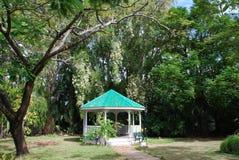 Belizean Park. The cosy arbour in Belize City park (Belize Stock Photos