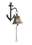 Bell. Ship's bell-chain isolated from a white background Stock Images