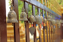 Bell. On the wood fences stock photos