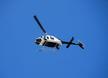 Bell 206 police helicopter on Royalty Free Stock Images