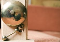 The bell. A kind of small bell in hotel door-keeper's lodge Stock Images
