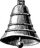 Bell. Vector image of an ancient bell vector illustration