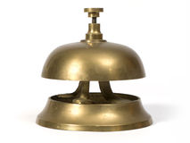 Bell. Classic bell of the reception of a hotel Stock Images