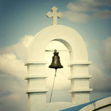 Bell. On the top of a small church Royalty Free Stock Photo