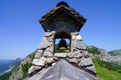 Bell in the Alps, at a house Royalty Free Stock Photo