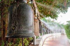 Bell ancient in Golden mount temple, Bangkok, Thailand. Bell ancient on the way of the Golden mount temple, in Bangkok, Thailand. Soft focus Royalty Free Stock Photo