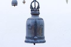 Bell ancient on the way of the Golden mount temple, in Bangkok, Royalty Free Stock Images