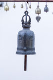 Bell ancient on the way of the Golden mount temple, in Bangkok, Royalty Free Stock Photography
