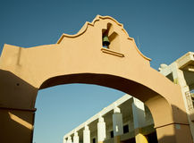 Bell Arch in Mexican Villiage. Arch with bell in the mexican village of puerto Royalty Free Stock Photography