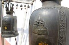 Bell around walkway to golden mount Stock Images
