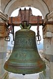 Bell Atop Tower of Pisa. Medieval bell atop the Leaning Tower of Pisa in Tuscany, Italy royalty free stock images