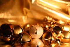 Bell auf Gold Stockbild