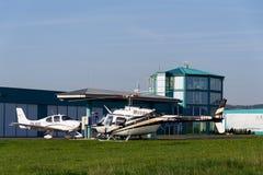 Bell 206 b JetRanger III bladed śmigłowcowy lądowanie Obrazy Royalty Free
