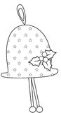 Bell. A beautiful Christmas bell ornament vector illustration