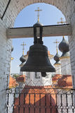Bell on the bell tower of the Church of the Entry of the Lord into Jerusalem in Totma, Vologda Region Royalty Free Stock Image