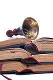 Bell and books royalty free stock images