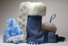 Bell boots and snow Royalty Free Stock Images