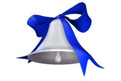 Bell and bow. Photorealistic 3D rendered bell and bow for holiday decorations Royalty Free Illustration