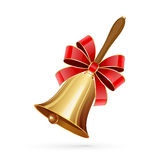 Bell with bow Royalty Free Stock Images