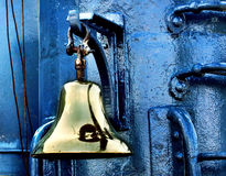 Bell. Bronze bell on a ship Royalty Free Stock Photo