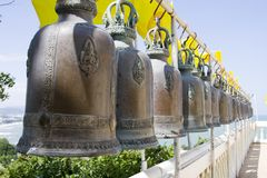 Bell in buddhist temple Royalty Free Stock Images
