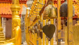 Bell in buddhist temple. This is  Bell Buddhist Temples of Thailand Royalty Free Stock Photography