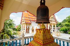 Bell in Buddhist Temple Wat Wichit Songkram royalty free stock images