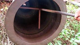 Bell am buddhistischen Tempel stock footage